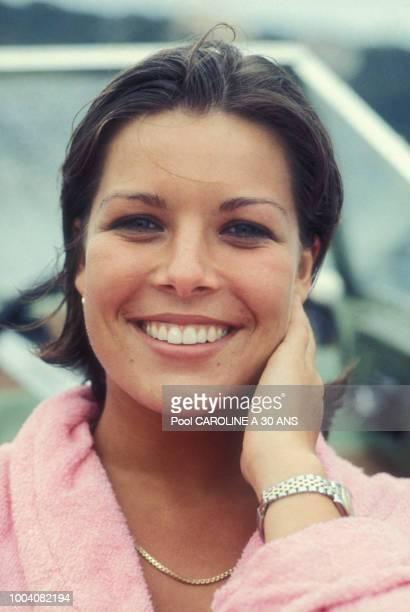 Portrait de la princesse Caroline de Monaco en août 1976
