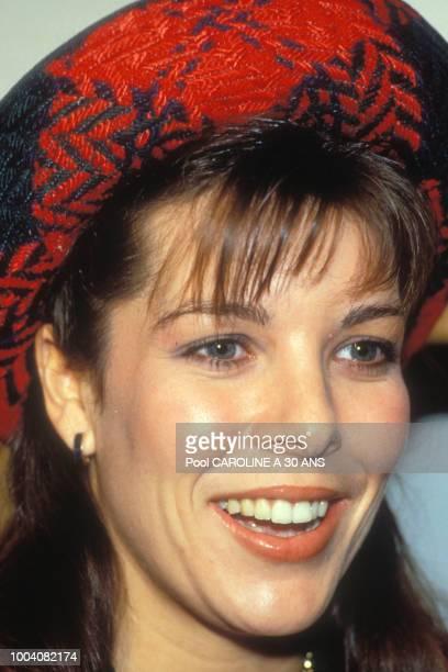 Portrait de la princesse Caroline de Monaco en janvier 1986 au RoyaumeUni