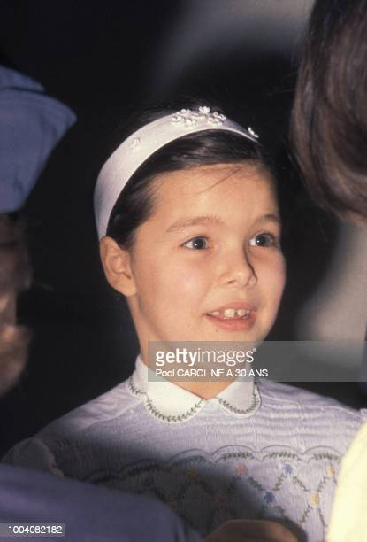 Portrait de la princesse Caroline de Monaco enfant circa 1960 à Monaco
