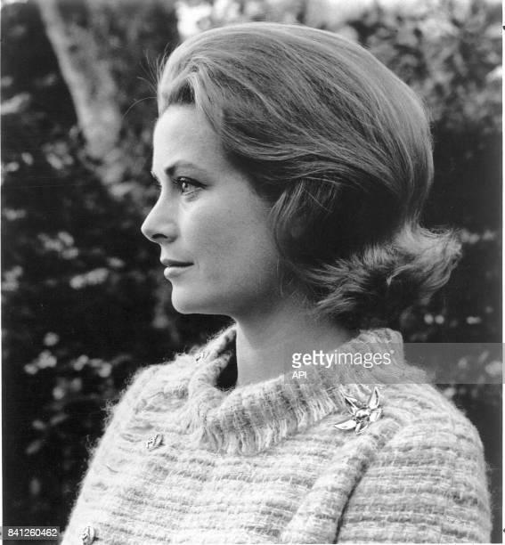 Portrait de la princesse Grace de Monaco le 22 février 1971