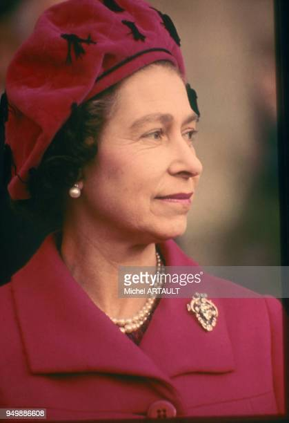 Portrait de la reine Elisabeth II du RoyaumeUni le 8 novembre 1976 au Luxembourg