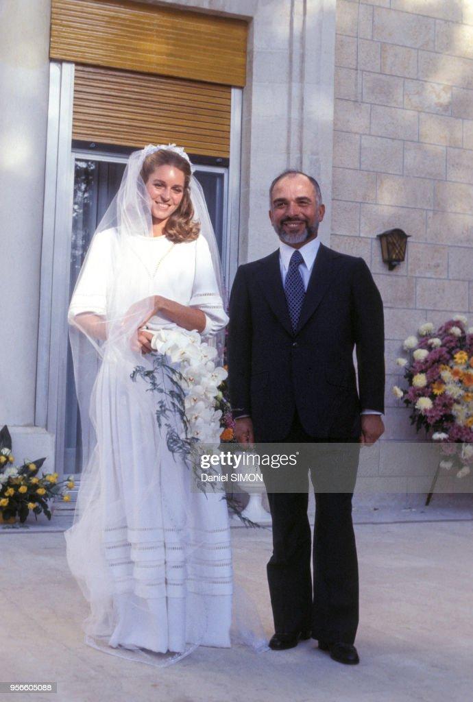 Portrait de la Reine Noor de Jordanie et du Roi Hussein : News Photo