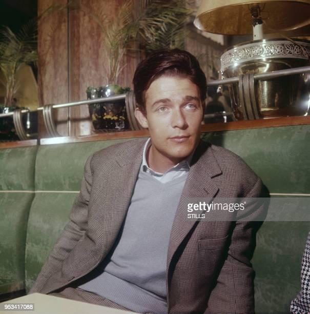 Portrait de l'acteur français Jacques Charrier dans les années 60 à Paris France