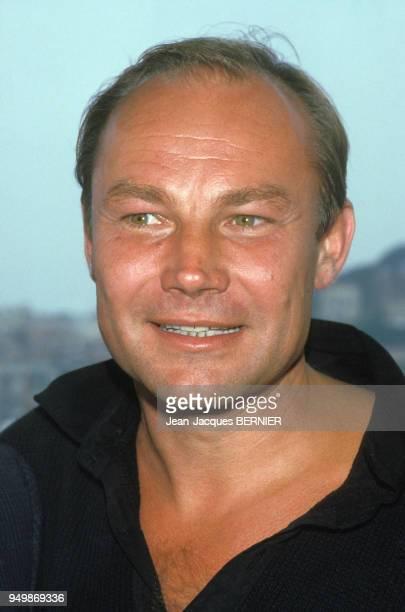 Portrait de l'acteur Klaus Maria Brandauer le 11 mai 1985 à Cannes, France.