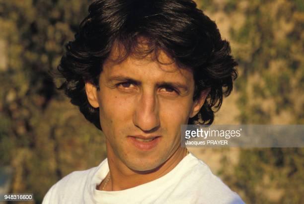 Portrait de l'acteur Richard Anconina dans le film 'Zone Rouge' de Robert Enrico le 3 novembre 1985 en France