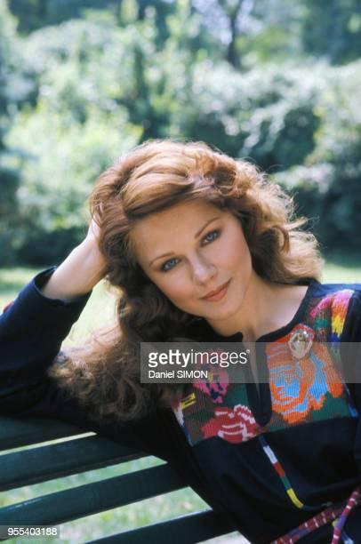 Portrait de l'actrice Agostina Belli en juillet 1976 à Rome Italie