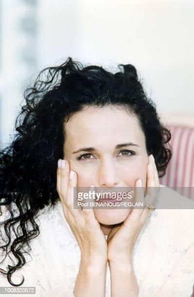 Portrait de l'actrice américaine Andie Mac Dowell lors du 22ème festival du film américain 6 septembre 1996 Deauville France