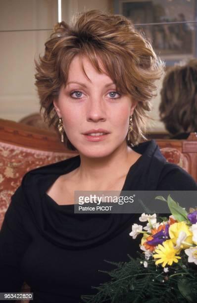 Portrait de l'actrice américaine Linda Kozlowski en janvier 1987 à Paris, France.