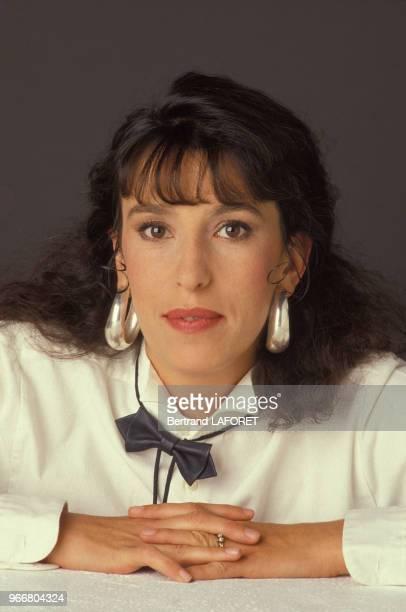 Portrait de l'actrice Anémone le 20 octobre 1985 à Paris, France.