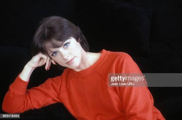 Portrait de l'actrice Annie Duperey dans les années 80 à Paris France Circa 1980