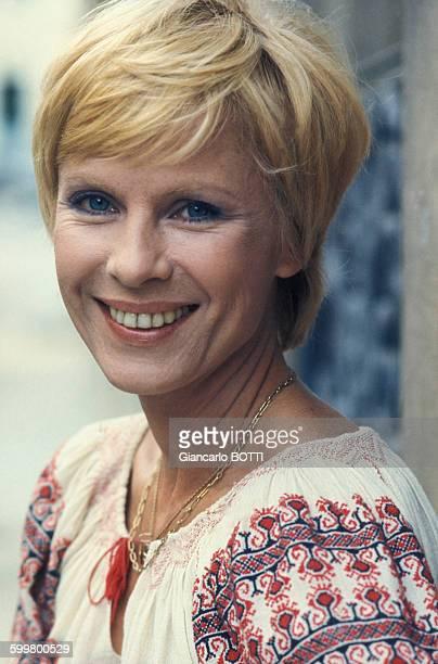Portrait de l'actrice Bibi Andersson circa 1970 en France