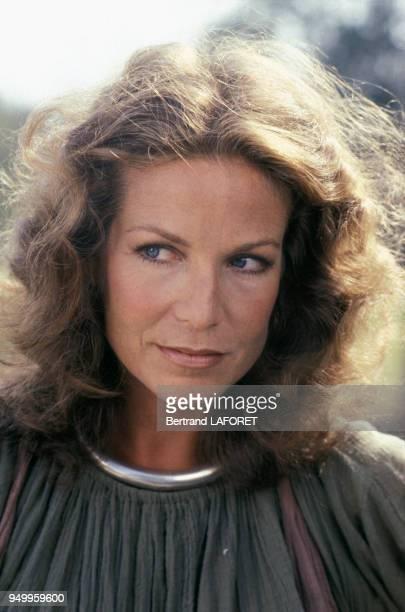 Portrait de l'actrice canadienne Alexandra Stewart dans les années 80 à Paris France Circa 1980