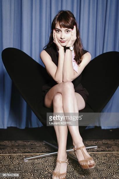 Portrait de l'actrice canadienne Sophie Desmarais le 22 mai 2013 pendant le 66eme Festival du Film Annuel de Cannes au Palais des des Festivals...
