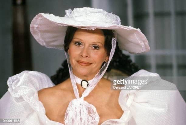 Portrait de l'actrice Christiane Minazzoli dans la pièce 'Le Don Juan de la Creuse' le 12 septembre 1983 à Paris France