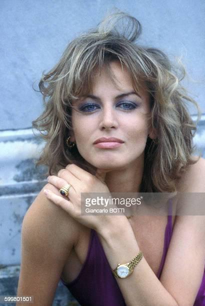 Portrait de l'actrice Dalila Di Lazzaro circa 1970 en Italie