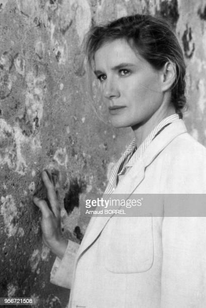 Portrait de l'actrice Dominique Sanda dans le film 'Les mendiants' de Benoît Jacquot en septembre 1986 au Portugal