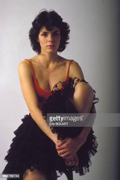 Portrait de l'actrice Elizabeth Bourgine le 17 janvier 1984 à Paris, France.