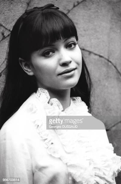 Portrait de l'actrice française Anna Karina