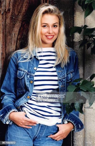Portrait de l'actrice française AnneCharlotte Pontabry e 16 octobre 1996 France