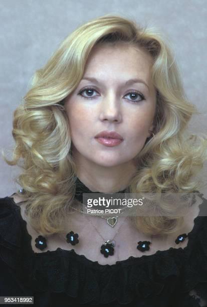 Portrait de l'actrice française Caroline Cellier le 2 mars 1973 à Paris France