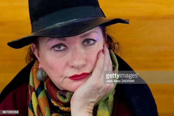 Portrait de l'actrice française Catherine Jacob à l'occasion de l'évènement « RadioFrance fête le livre » à Paris en France le 26 novembre 2016