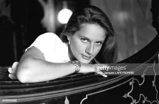 Portrait de l'actrice française Dominique Sanda en juin 1978 à Houdan, France.