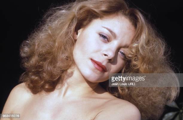 Portrait de l'actrice française Grace de Capitani dans les années 80 france Circa 1980