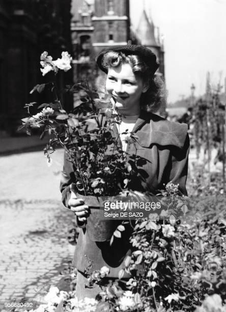 Portrait de l'actrice française Jacqueline Huet en 1946