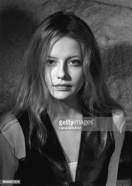 Portrait de l'actrice française Laure Marsac en avril 1992