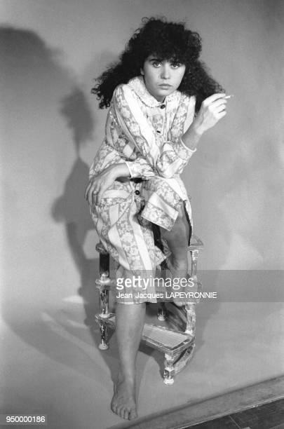 Portrait de l'actrice française Maria Schneider à Paris en France en janvier 1979