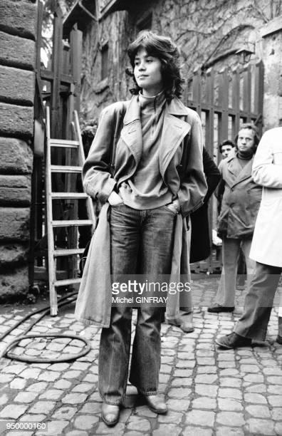 Portrait de l'actrice française Maria Schneider