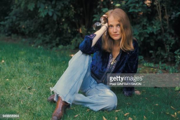 Portrait de l'actrice Isabelle Huppert circa 1970 à Paris France