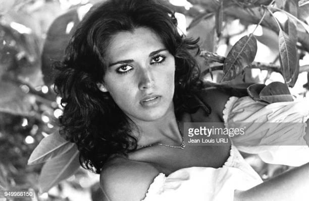 Portrait de l'actrice italienne Lilli Carati en Italie en janvier 1977