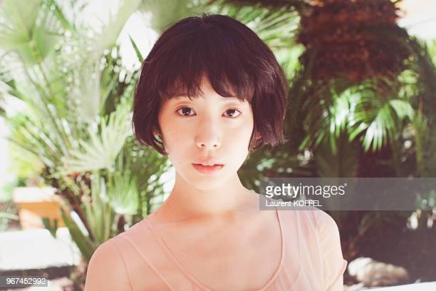Portrait de l'actrice japonaise Kaho lors du photocall du film Notre petite sur pendant le 68eme Festival du Film Annuel au Palais des Festivals le...