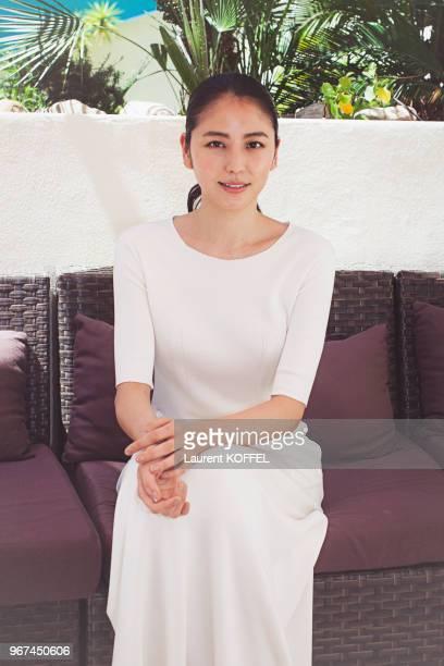 Portrait de l'actrice japonaise Masami Nagasawa lors du photocall du film Notre petite sur pendant le 68eme Festival du Film Annuel au Palais des...