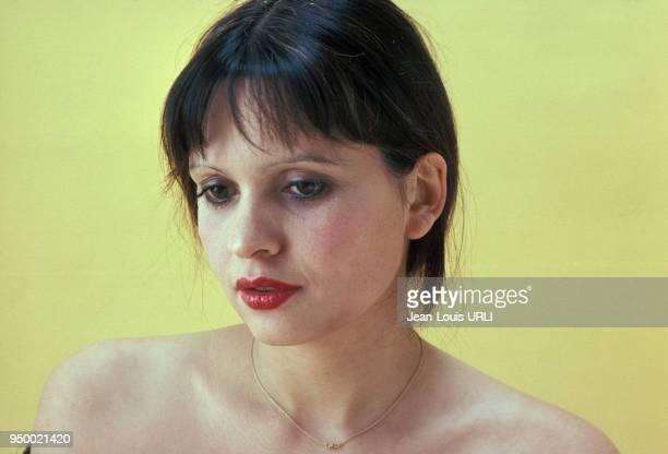 Portrait de l'actrice Jeanne Goupil en février 1979, France.