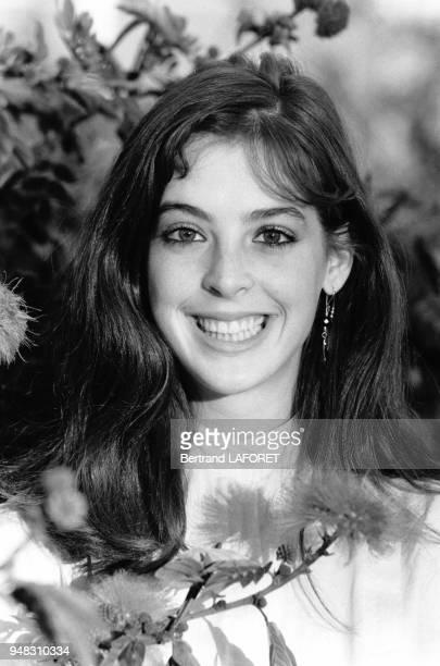 Portrait de l'actrice Jodi Thelen en janvier 1982 à Los Angeles EtatsUnis