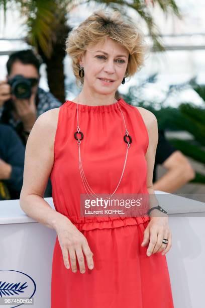 Portrait de l'actrice Margherita Buy lors du photocall du film Mia Madre' pendant le 68eme Festival du Film Annuel au Palais des Festivals le 16 mai...