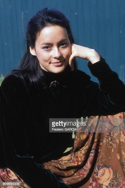 Portrait de l'actrice Meg Tilly au Festival du Film américain en septembre 1988 à Deauville France