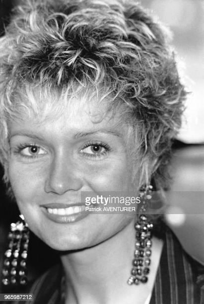Portrait de l'actrice Mimi Coutelier le 15 avril 1985 à Paris France
