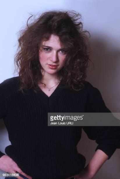 Portrait de l'actrice néerlandaise Maruschka Detmers en 1983 à Paris France