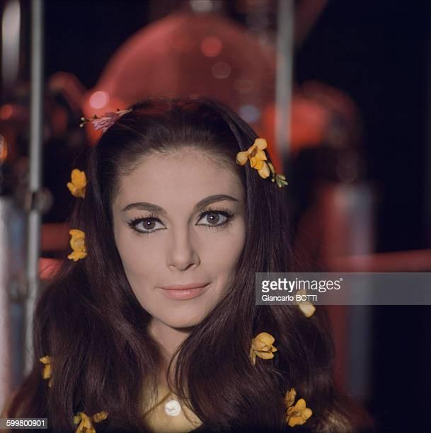 Portrait de l'actrice Pier Angeli circa 1960 en France