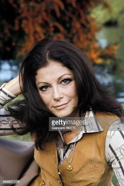 Portrait de l'actrice Pier Angeli circa 1970 en Italie
