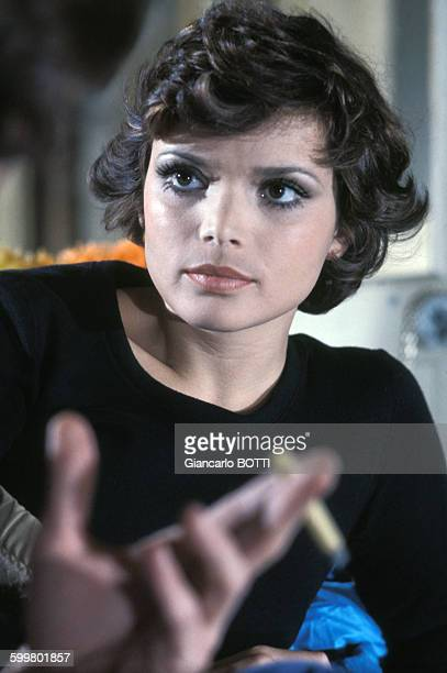 Portrait de l'actrice Uschi Glas circa 1970 en France