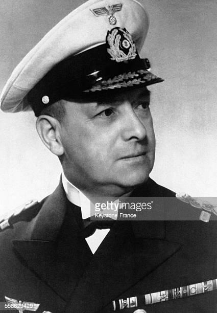 Portrait de l'amiral Erich Raeder de la marine allemande circa 1940