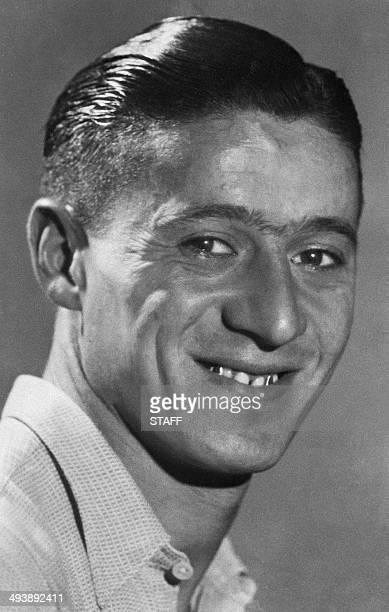 Portrait de l'attaquant français Lucien Laurent pris en 1930 Lucien Laurent est devenu le premier buteur de la Coupe du monde de football lorsqu'il a...