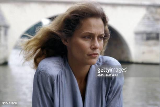 Portrait de Lauren Hutton circa 1970 à Paris France