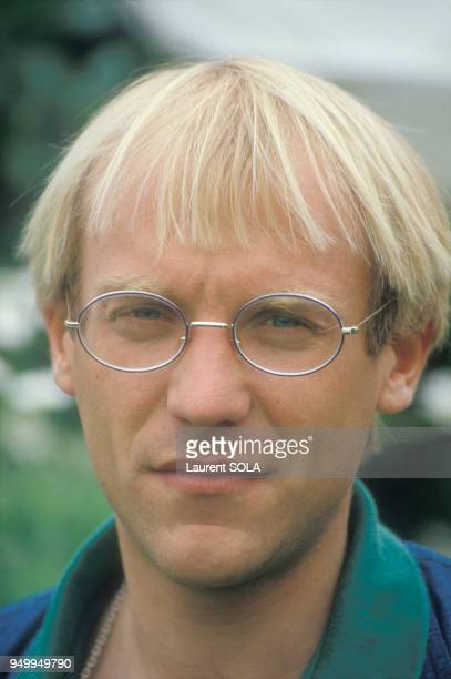 Portrait de Laurent Fignon en juin 1983 à Paris, France.
