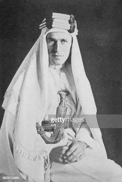 Portrait de Lawrence d'Arabie circa 1925 par le photographe américain Henri A Chase