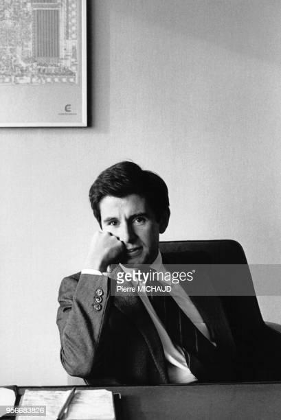 Portrait de l'économiste français Alain Minc en 1984